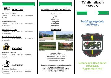2013-01-04 TVM-Flyer.xlsx - TV Michelbach 1903 eV