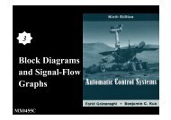 Block Diagrams and Signal-Flow Graphs