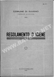 REGOLAMENTO D' IGIENE - Baveno.net