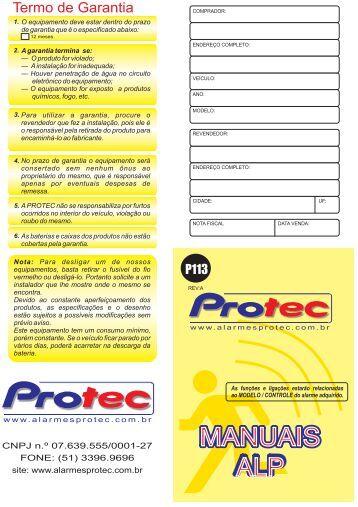 PROTEC MANUAL P113 - ALP 508 -New Ecosport ... - alarmes protec