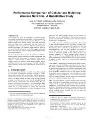 Performance Comparison of Cellular and Multi-hop Wireless Networks