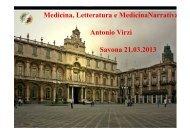 Medicina, Letteratura e MedicinaNarrativa Antonio Virzì Savona ...