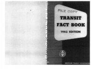 Fact Book 1962 - American Public Transportation Association