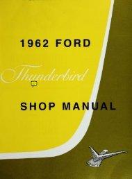 DEMO - 1962 Ford Thunderbird Shop Manual - ForelPublishing.com