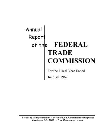 an introduction to the federal trade commission ftc 1 - history of the federal trade commission pp 3-30   cbo9781316411292002 access pdf export citation 2 - the ftc and the rise .