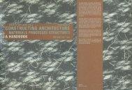 Deplazes-Constructing Architecture-Steel p113-138 - third year studio