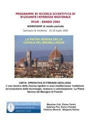La pietra serena della Cupola del Brunelleschi - Lapidei Culturali