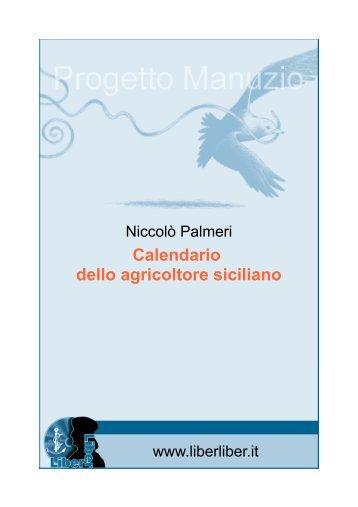 Calendario dello agricoltore siciliano - Liber Liber