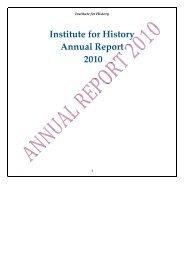 Institute for History Annual Report 2010 - O - Universiteit Leiden