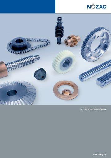 Spur gears steel, milled - Nozag AG