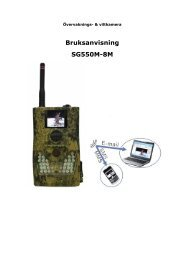 Bruksanvisning SG550M-8M - Netto jakt.