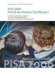 PISA 2006: Porträt des Kantons Schaffhausen
