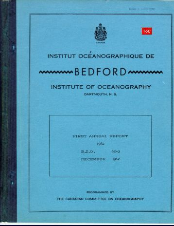 First Annual Report 1962