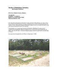Garden of Bethlehem Cemetery - RootsWeb