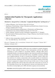 Antimicrobial Peptides for Therapeutic Applications: A ... - MDPI.com