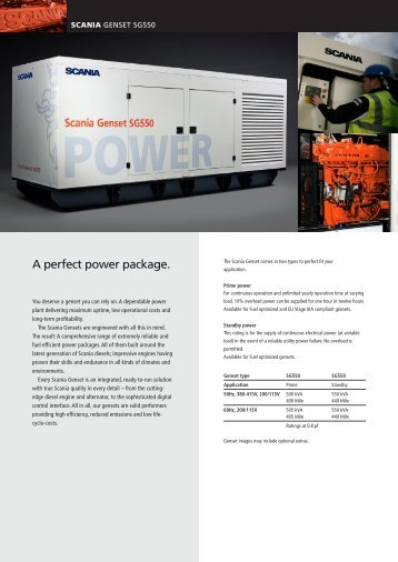 A perfect power package. - Scania