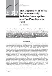 The Legitimacy of Social Entrepreneurship - Said Business School ...