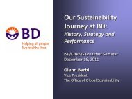 Our Sustainability Journey at BD - FDU