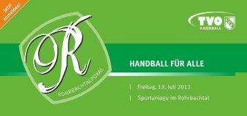 Rohrbachtalpokal-Infoblatt 2013 - TV Oppenweiler