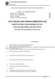 TATA TERTIB UJIAN TENGAH SEMESTER (UTS) - Fakultas Ilmu ...