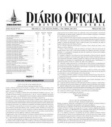 preço r$ 3,00 ano xliii nº 63 brasília – df, sexta-feira, 1 de abril de 2011