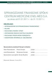 Sprawozdanie finansowe za rok 2011.pdf - Centrum Medyczne ...