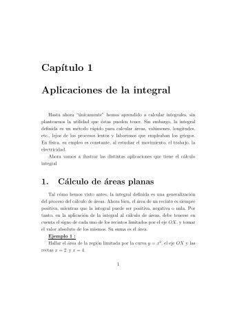 Cap´ıtulo 1 Aplicaciones de la integral