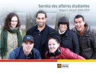 rapport annuel 2008-2009 du Service des affaires étudiantes