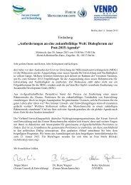 """Einladung """"Anforderungen an eine zukunftsfähige Welt: Dialogforum ..."""