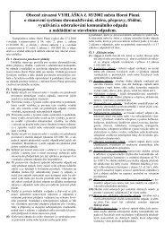 Vyhláška o nakládání s odpady - Město Horní Planá