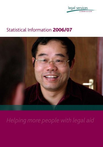 Statistical Information 2006/07 - ftp.legalservices... - Legal Services ...