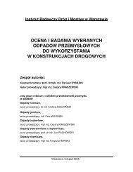 Ocena i badania wybranych odpadów przemysłowych - Generalna ...