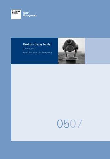 Goldman Sachs Funds, SICAV, Semi-Annual Financial Statements