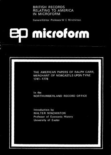 british records relating to america in microform