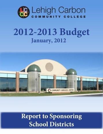 2012-2013 Budget - Lehigh Carbon Community College