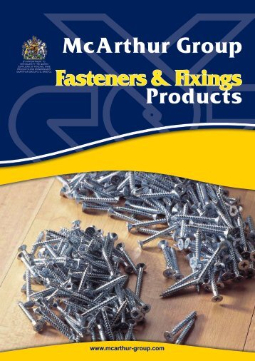 Fixings Products Catalogue PDF - McArthur Group