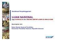 Sosialisasi Penyelenggaraan UJIAN NASIONAL oleh Badan ...