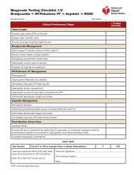 Megacode Testing Checklist 1/2 Bradycardia VF/Pulseless VT ...
