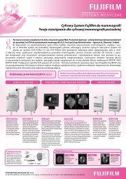 SYSTEMY MEDYCZNE Cyfrowy System Fujifilm do mammografii ...