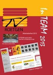 Unser neues Vereinsheft ist da!!! - Turnverein Roetgen 1894 e.V.