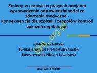 J. Krawczyk Zmiany w ustawie o prawach pacjenta wprowadzenie ...