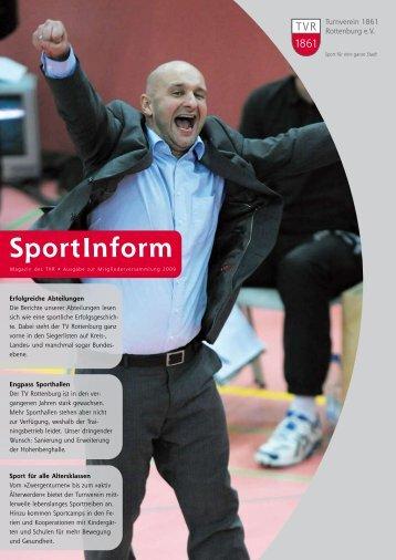 Hier kann das aktuelle SportInform zur Mitgliederversammlung 2009