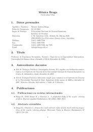 Mónica Braga 1. Datos personales 2. T´ıtulo 3. Antecedentes ...