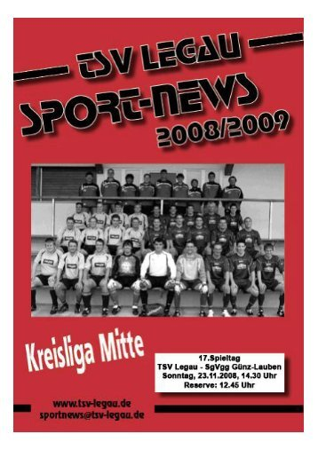 Spielplan TSV Legau