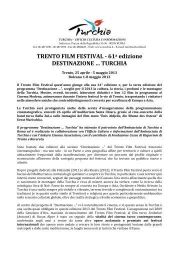 TRENTO FILM FESTIVAL - Ufficio Turismo Turco