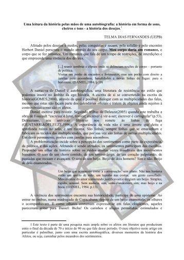 Uma leitura da história pelas mãos de uma ... - Itaporanga.net
