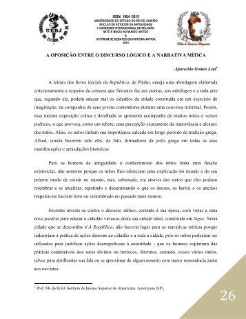 A oposição entre o - Núcleo de Estudos da Antiguidade - UERJ