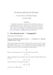 Il teorema dell'unicità del limite - Batmath.it