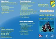 Info-Broschüre - TV Stetten