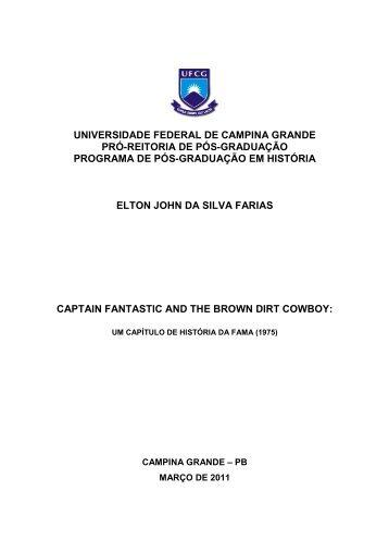 FARIAS, ELTON JOHN DA SILVA. Captain Fantastic and ... - UFCG